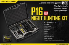 Nitecore P16 hunting kit
